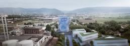 Um die Energiewende in Heidelberg erlebbar zu machen, arbeiten die Stadtwerke Heidelberg gemeinsam mit der IBA an der Umwandlung eines existierenden Wärmespeichers hin zu einem neuartigen Bildungsort © LAVA - Laboratory for Visionary Architecture