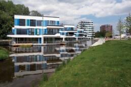 Die WaterHouses: Wohnstandorte auf dem Wasser, 2013 © Bernadette Grimmenstein / IBA Hamburg GmbH