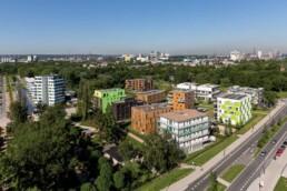 Luftbild des Areals der Bauausstellung in der Bauausstellung, 2013 © Johannes Arlt / IBA Hamburg GmbH