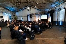 """Final event of the IBA Platform in the Stuttgart """"Wagenhallen"""". Photo: WRS/Christian Hass"""