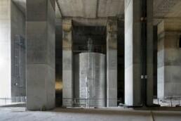 Der im Energiebunker installierte Großpufferspeicher, 2012 © Martin Kunze / IBA Hamburg GmbH