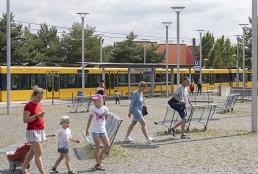 """Die U-Bahn-Haltestelle """"Scharnhauser Park"""" verbindet den gleichnamigen Stadtteil von Ostfildern mit der Stuttgarter Innenstadt. © IBA'27 / Niels Schubert"""