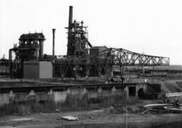historisches Schwarz-Weiß-Foto der Anlage