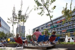 The centre of Heerlen will be partially demolished to make way for a new Central Park. The majority of the project, incorporating ideas by local residents, should be completed by 2019. The use of material from demolished buildings is an important part of the project © IBA Parkstad / Corné Netten
