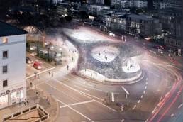 """IBA Kandidat """"Forum Adenauerplatz"""", ein öffentliches Forum mit Kulturangebot © SSV Architekten / IBA Heidelberg"""