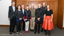 v.l.n.r.: Jörn Walter, Angelika Fitz, Werner Durth, Christa Reicher, Walter Siebel, Staatssekretärin Anne Katrin Bohle, Reimar Molitor, Sonja Beeck